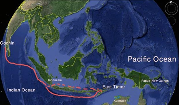 The route for the beginning of our trip. This leg should take 40 to 50 days of sailing, a lot in open ocean without much connection and certainly no Internet.