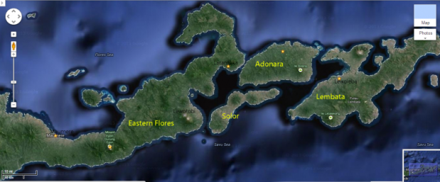 eastern flores map