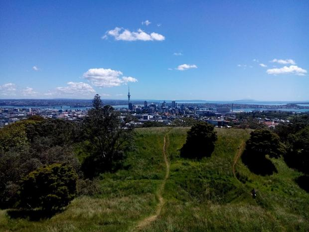 Mt Eden is a nice extinct volcano where I did some geocaching and had a walk in the bush.