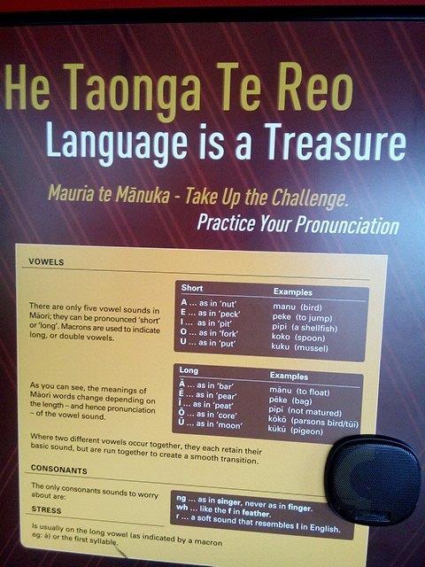 Maori language ABC