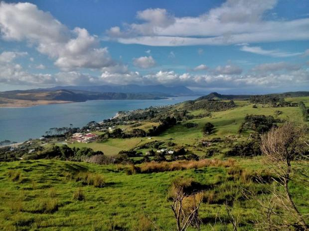View from my couchsurfing host's place over Hokianga harbour.
