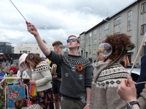 Reykjavik Gay Pride is in the beginning of August and attracts more people to the streets than even National Day.