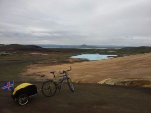 Cycling in northern Iceland